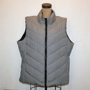 NWT Tribal blk/wh Houndstooth Reversible Vest